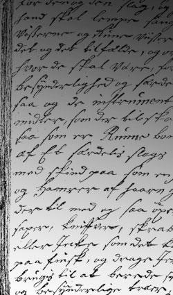 Isaac Olsens giehtačála/Issac Olsens håndskrift